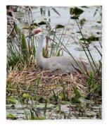 Nesting Sandhill Crane Fleece Blanket