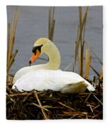 Nesting Swan Fleece Blanket