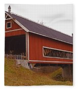 Netcher Road Covered Bridge Fleece Blanket