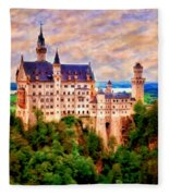 Neuschwanstein Castle Fleece Blanket
