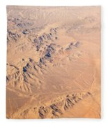 Nevada Mountains Aerial View Fleece Blanket