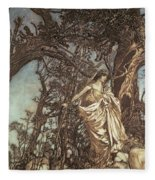 Never So Weary Never So Woeful Illustration To A Midsummer Night S Dream Fleece Blanket