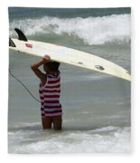Never Too Little Never Too Big To Surf Fleece Blanket