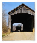 Nevins Covered Bridge Fleece Blanket