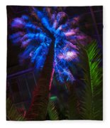 New Age Tropical Palm Fleece Blanket