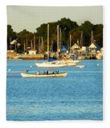 New Bedford Pier Fleece Blanket