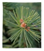New Blue Spruce Buds Fleece Blanket