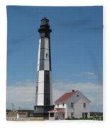 New Cape Henry Lighthouse Fleece Blanket