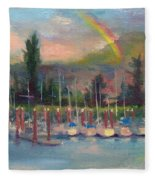 New Covenant - Rainbow Over Marina Fleece Blanket
