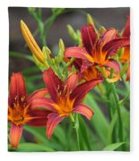New Daylilies Fleece Blanket