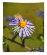 New England Asters Fleece Blanket