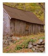 New England Barn Fleece Blanket