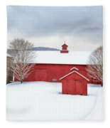 New England Barns Square Fleece Blanket