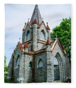 New England Cemetery Mausoleum Fleece Blanket