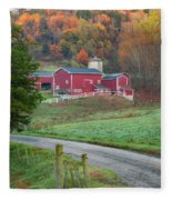 New England Farm Square Fleece Blanket