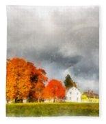 New England Village Fleece Blanket