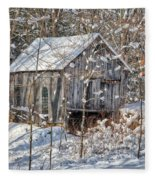 New England Winter Woods Fleece Blanket