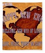 New Era On Earth A New Begining Fleece Blanket