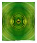 New Growth - Green Art By Sharon Cummings Fleece Blanket