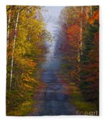 New Hampshire Back Road Fleece Blanket