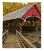 New Hampshire Covered Bridge Fleece Blanket