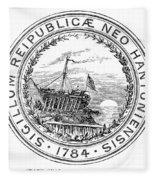 New Hampshire State Seal Fleece Blanket