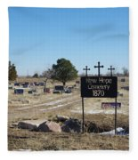 New Hope Cemetery Fleece Blanket