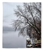 New Hope Ferry Fleece Blanket