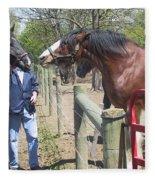 New Horse In The Herd Fleece Blanket