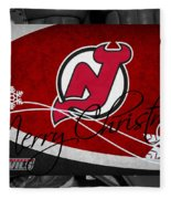 New Jersey Devils Christmas Fleece Blanket