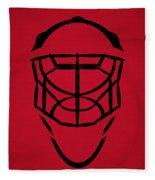 New Jersey Devils Goalie Mask Fleece Blanket