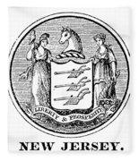 New Jersey State Seal Fleece Blanket