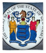 New Jersey State Seal Fleece Blanket