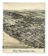 New Kensington Pennsylvania 1896 Fleece Blanket