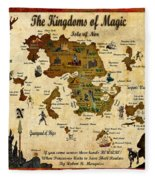 New Map Of The Kingdoms Of Magic Fleece Blanket