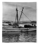 New Marretimo Purse Seiner Monterey Bay Circa 1947 Fleece Blanket
