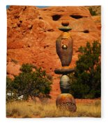 New Mexico Art Fleece Blanket