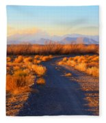 New Mexico Back Country Road Fleece Blanket