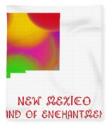 New Mexico State Map Collection 2 Fleece Blanket