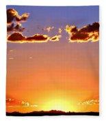 New Mexico Sunset Glow Fleece Blanket