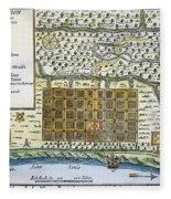 New Orleans, 1718-20 Fleece Blanket