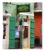 New Orleans - Bourbon Street 4 Fleece Blanket