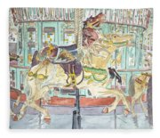 New Orleans Carousel Fleece Blanket