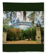 New Orleans City Park - Pizzati Gate Entrance Fleece Blanket