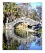 New Orleans City Park Fleece Blanket