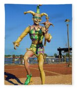 New Orleans Clown French Quarters Fleece Blanket