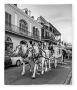 New Orleans Funeral Monochrome Fleece Blanket