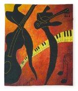 New Orleans Jazz Fleece Blanket