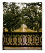 New Orleans Live Oak Fleece Blanket