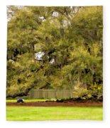 New Orleans' Tree Of Life 2 Paint Fleece Blanket